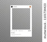 photo frame inspired for...   Shutterstock . vector #1101734423