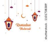 ramadan mubarak greeting card... | Shutterstock .eps vector #1101738389