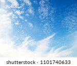 softly clouds on blue sky... | Shutterstock . vector #1101740633