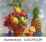 artwork. still life with... | Shutterstock . vector #1101742139