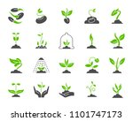 green sprout silhouette icons... | Shutterstock .eps vector #1101747173