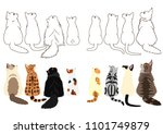 cats looking up sideways in two ...   Shutterstock .eps vector #1101749879