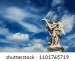 angel holding the holy cross... | Shutterstock . vector #1101765719