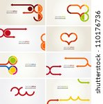 business card templates   Shutterstock .eps vector #110176736