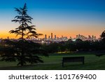 Melbourne Skyline From The Hill ...