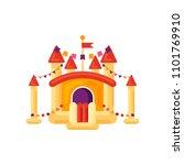 inflatable castle trampoline... | Shutterstock .eps vector #1101769910