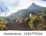 adam's peak  sri lanka  ...   Shutterstock . vector #1101775316