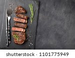 closeup ready to eat steak new... | Shutterstock . vector #1101775949