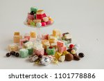 traditional turkish delights... | Shutterstock . vector #1101778886