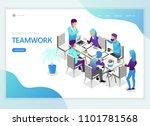 isometric business people...   Shutterstock .eps vector #1101781568