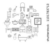 lodging house icons set....   Shutterstock .eps vector #1101783713