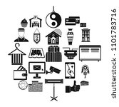 lodge icons set. simple set of...   Shutterstock .eps vector #1101783716