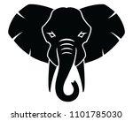 elephant icon  logo  emblem ... | Shutterstock .eps vector #1101785030