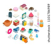 ranch icons set. isometric set... | Shutterstock .eps vector #1101786989