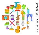 lodgings icons set. cartoon set ...   Shutterstock .eps vector #1101787409