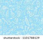 bathroom set  washing  bathing  ... | Shutterstock .eps vector #1101788129