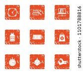 dimensional icons set. grunge... | Shutterstock .eps vector #1101788816