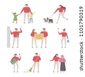 good people characters who do... | Shutterstock .eps vector #1101790319