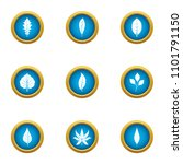 frond icons set. flat set of 9... | Shutterstock .eps vector #1101791150