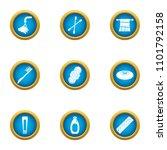hand hygiene icons set. flat... | Shutterstock .eps vector #1101792158