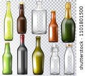 bottle glass vector glassware... | Shutterstock .eps vector #1101801500