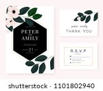 wedding invitation card with... | Shutterstock .eps vector #1101802940