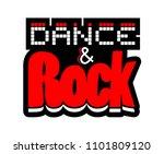 dance and rock symbol | Shutterstock .eps vector #1101809120