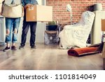 couple moving into new house | Shutterstock . vector #1101814049