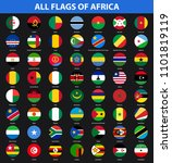 set of flags of all african... | Shutterstock . vector #1101819119