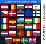 all flags of the countries of... | Shutterstock . vector #1101820583