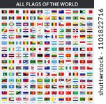 all flags of the world in... | Shutterstock . vector #1101822716