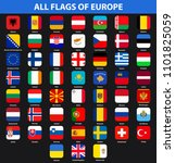 flags of all countries of... | Shutterstock . vector #1101825059