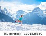 children hiking in alps...   Shutterstock . vector #1101825860
