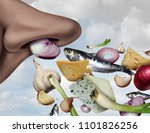 stinky smell and smelly food... | Shutterstock . vector #1101826256