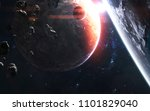 deep space planets  awesome... | Shutterstock . vector #1101829040