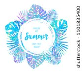 summer tropical vector design... | Shutterstock .eps vector #1101835400
