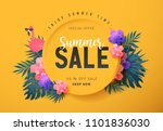 summer sale background layout... | Shutterstock .eps vector #1101836030