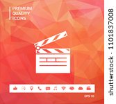 clapperboard icon symbol | Shutterstock .eps vector #1101837008