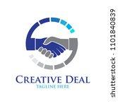 business deal logo | Shutterstock .eps vector #1101840839