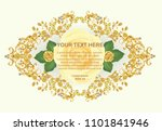 golden frame with vintage... | Shutterstock .eps vector #1101841946