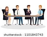 business people in the... | Shutterstock .eps vector #1101843743