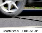 vehicle traffic counter on the... | Shutterstock . vector #1101851204
