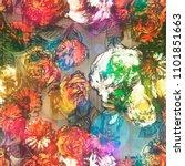 art vintage blurred colorful... | Shutterstock . vector #1101851663