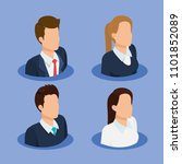 business people isometric... | Shutterstock .eps vector #1101852089