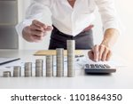 business accountant or banker ... | Shutterstock . vector #1101864350