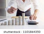 business accountant or banker ... | Shutterstock . vector #1101864350