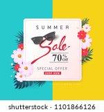 summer sale background layout... | Shutterstock .eps vector #1101866126
