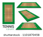 tennis court . top view and... | Shutterstock .eps vector #1101870458