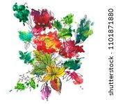 vintage vector floral... | Shutterstock .eps vector #1101871880