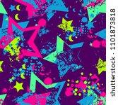 abstract seamless stars pattern ... | Shutterstock .eps vector #1101873818